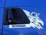 2x Panneau de porte en acier inoxydable poli Décorations pour Scania R/G/P Series Truck