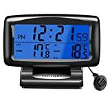 ACAMPTAR Thermomètre LED Voiture Montre D'Horloge électronique de Temps Horloge de Nuit de Voiture Affichage de la Température Produits Intérieurs ...