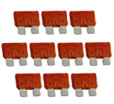 AERZETIX: 10 x Fusible - Plat - Orange - MIDI - 40A - 6V - 12V - 24V - 32V ...